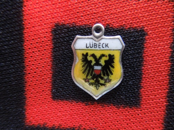 Germany Charm Vintage Silver and Enamel Lubeck