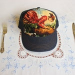 Shirley Hat, Cross stitched wonderfulness on Canadian made trucker hat