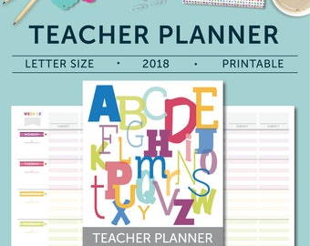 2018 Teacher Planner - January 2018-December 2018, Lesson Planner, Calendar, Teaching, Australia