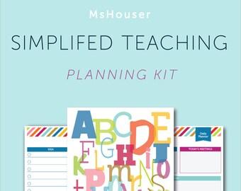 Simplified Teaching Planning Kit