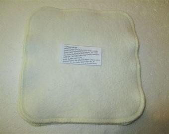4 x 2Ply Bamboo Hemp Fleece/Hemp Jersey Family Size Wash Cloths (20 x 20cm)  - Australian Made