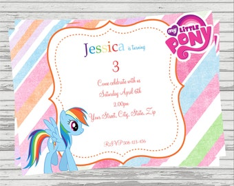 My Little Pony Rainbow Dash DIGITAL Birthday Invitation