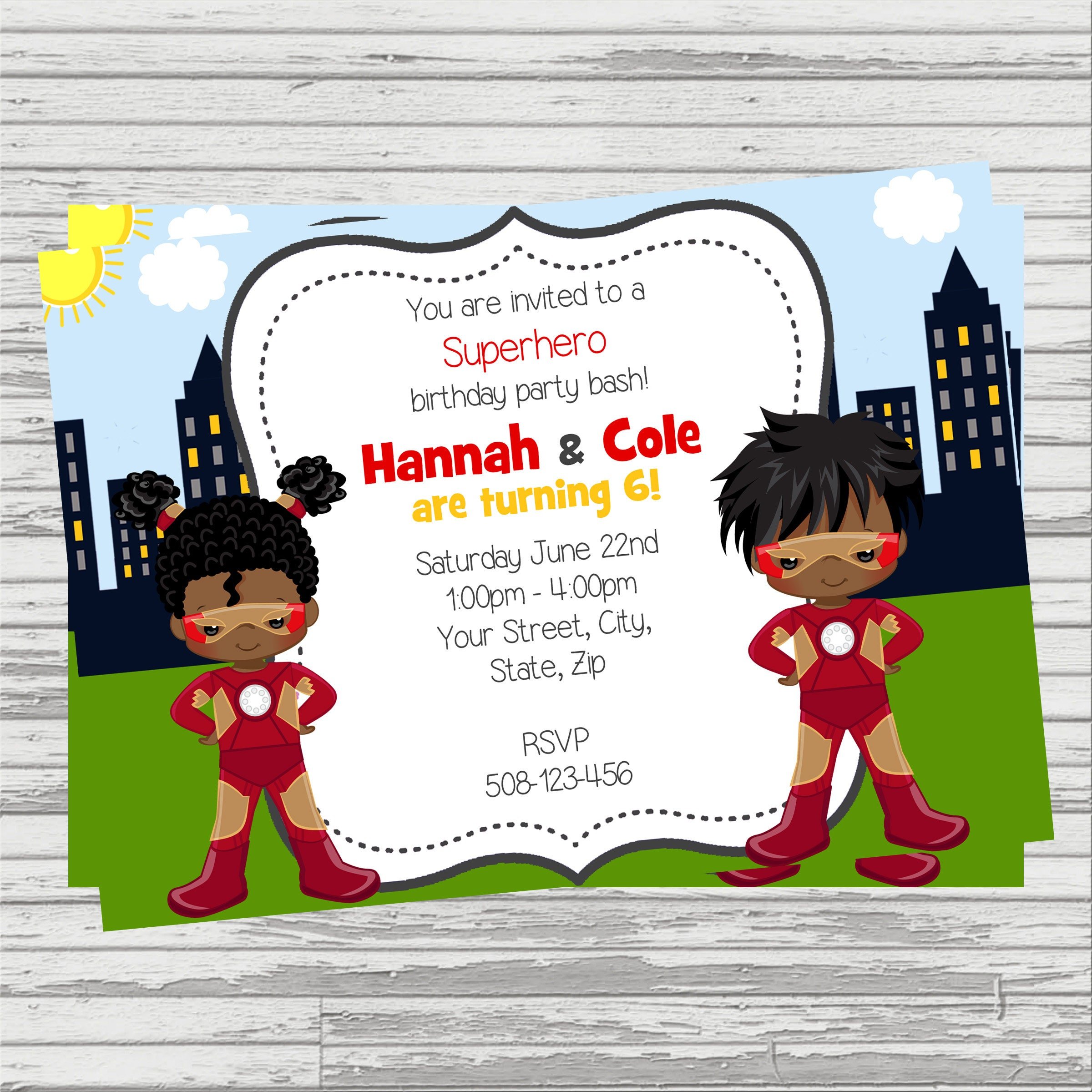 African American Ironman & Irongirl Twins/Joint Party Custom   Etsy