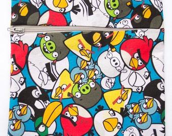 angry birds reusable sandwich or snack bag