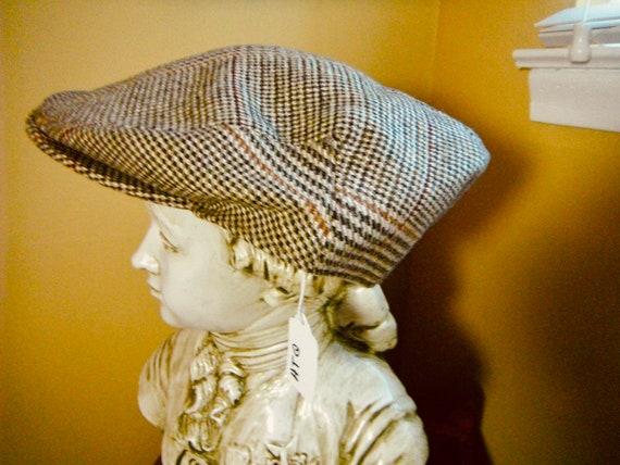 Vintage Bonwit Teller Plaid Cap