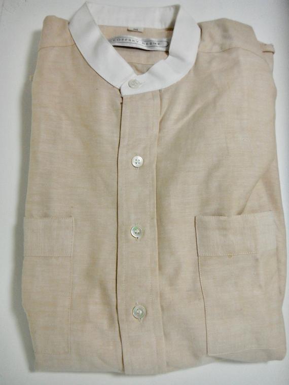 Vintage Geoffery Beens Collarless Shirt