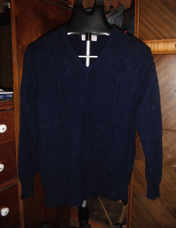 Cashmere Navy Blue Sweater