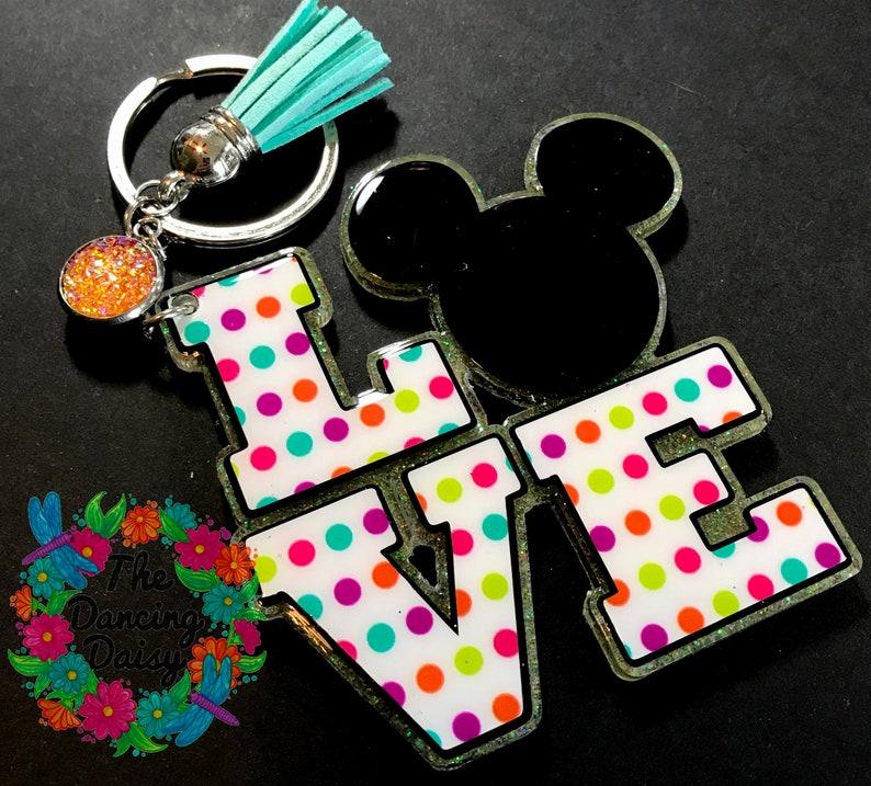 LOVE Disney / Mickey acrylic keychain - custom