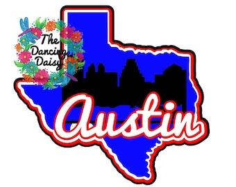 SVG DIGITAL FILE - Austin Texas die cut