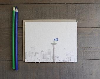 Seattle Skyline (Seahawk edition)