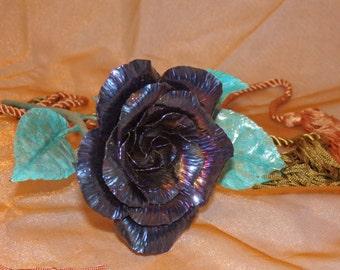 Midnight Blue Forged Steel Garden Rose