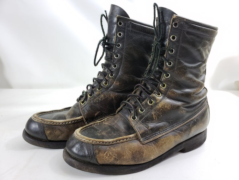 e1938f86706 Vintage Browning Sportsman Leather Boot Distressed Hunting Green Mens Size  8 D
