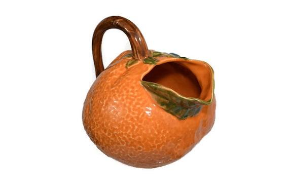 Vintage Dansk Orange Juice Pitcher Decorative Ceramic Fruit Etsy Unique Decorative Ceramic Pitchers