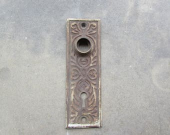 Doorknob Plate,Vintage Metal Doorknob Plate Cover, Decorative Doorknob Plate Cover, Home Decor, Home Hardware, Vintage Door Hardware