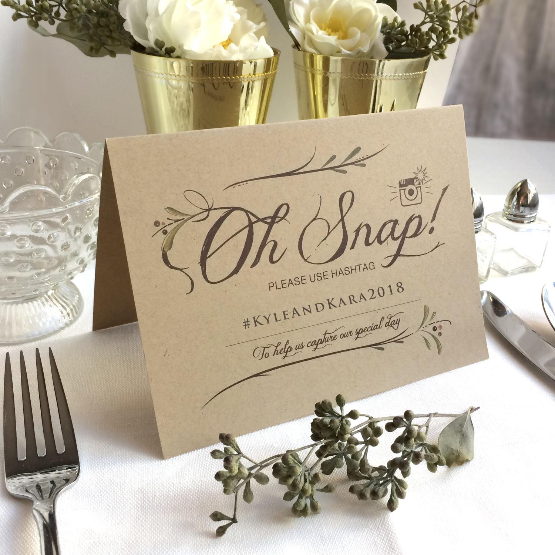 Instagram Wedding: Instagram Signs Kraft Instagram Wedding Table Sign Oh