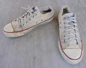BEAT To HELL Rare vintage USA Made Converse Chuck Taylor Sneakers 5.5