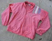 80s Windbreakers, Jackets, Coats RARe Vintage 80s Adidas Trefoil Pink Zip Up Windbreaker L $79.99 AT vintagedancer.com