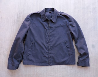 fc649b2a733 BEAT To HELL Rare Vintage Navy Blue Lightweight Bendone Military Jacket 44 L