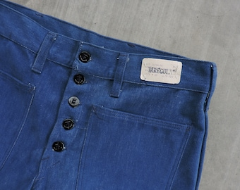 beef3facf131 BEAT To HELL Rare Vintage Deadstock Big Yank Button Fly Moleskin Pants 32