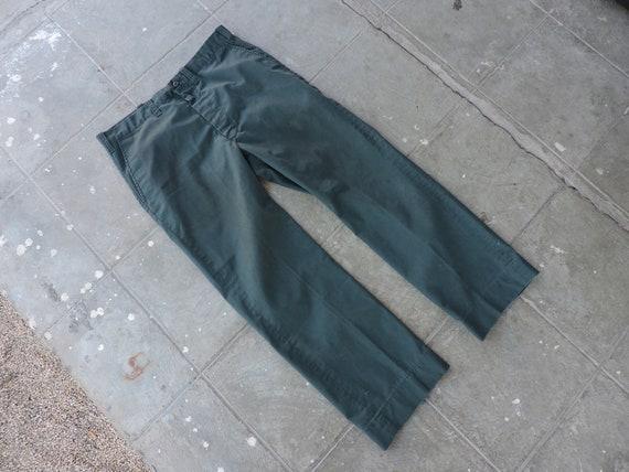 Rare Vintage Dark Green Work Pants 35X27.5