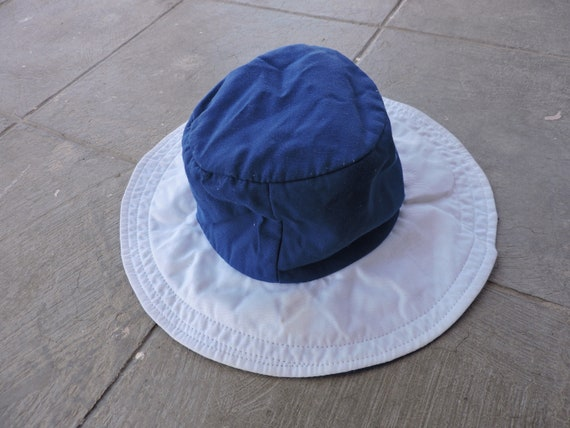 BEAT To HELL Rare Vintage Two Tone Blue & White De
