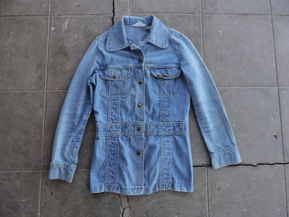 RARE Vintage 60s/70s Lee Fitted Blue Jean Distress