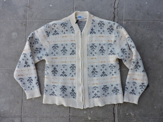 BEAT To HELL Vintage 50s Pilgrim Zip Up Cardigan S