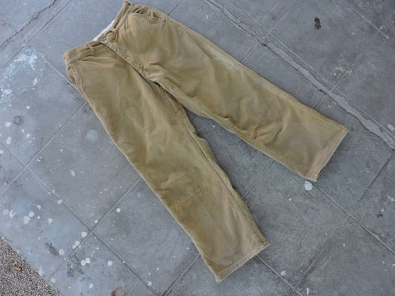 BEAT To HELL Rare Vintage Canvas Hunting Pants 26X