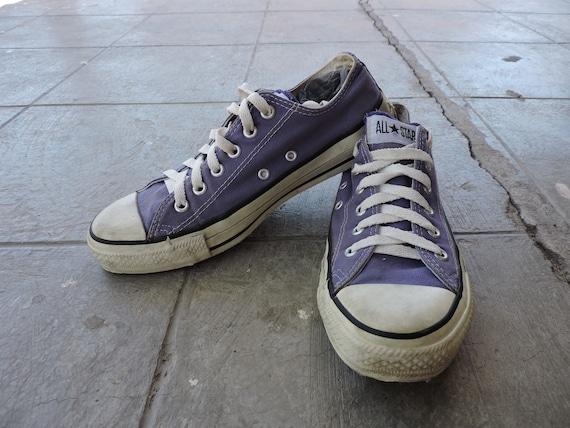 Rare Vintage Low Top Purple Converse Chuck Taylor