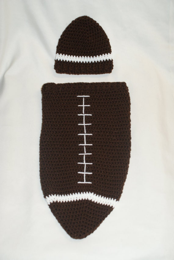 Crochet Football Cocoon And Hat Pdf Pattern Newborn Etsy