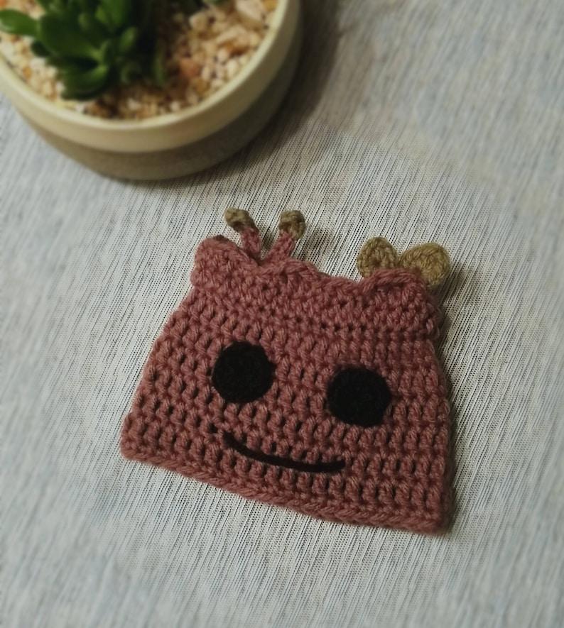 937e98b085e3 Crochet Baby Groot Inspired Hat. Crochet Pattern. Baby Hat.