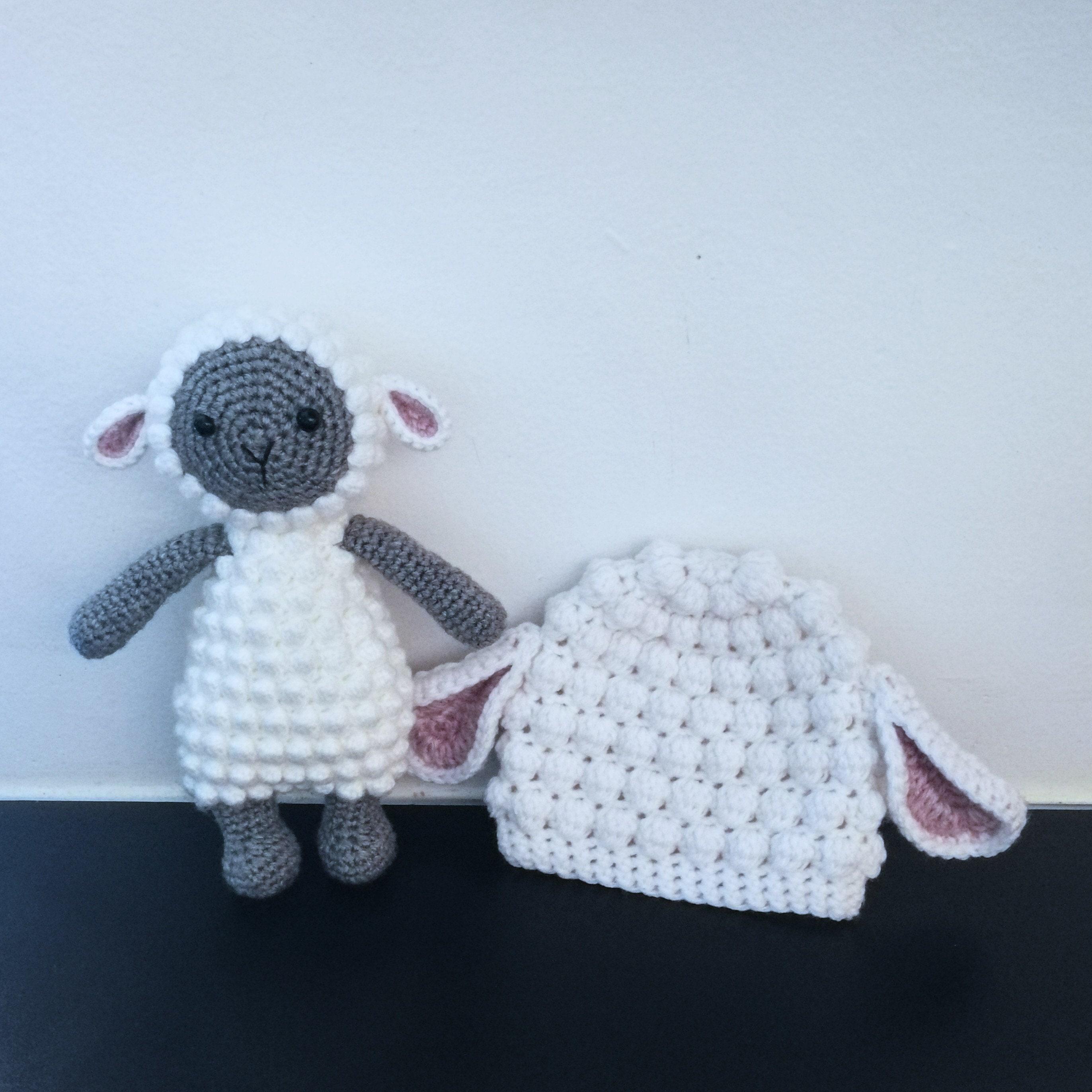 a4dd9d57bdd Lamb Photo Prop Set. Crochet Pattern. Amigurumi. Sheep Plush.