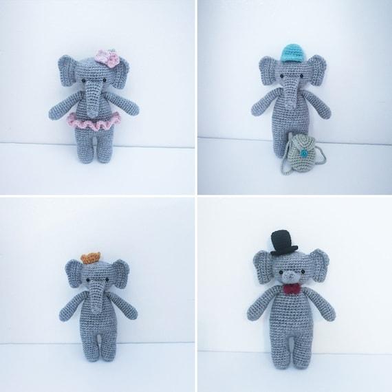 Dumbo amigurumi | Dumbo amigurumi | Laura | Flickr | 570x570