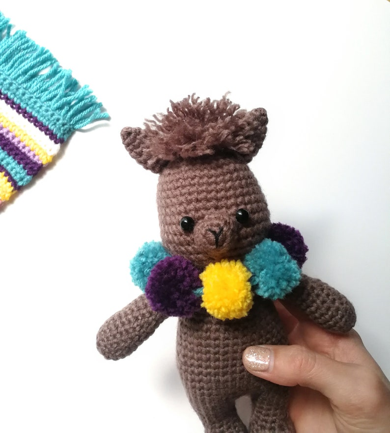 548e777d44ed Larry the Llama Crochet Pattern with Pompom Necklace and