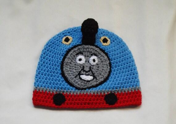 cc68d72c53e3 Au crochet modèle de bonnet en Train. Tailles  6-12 12-24   Etsy