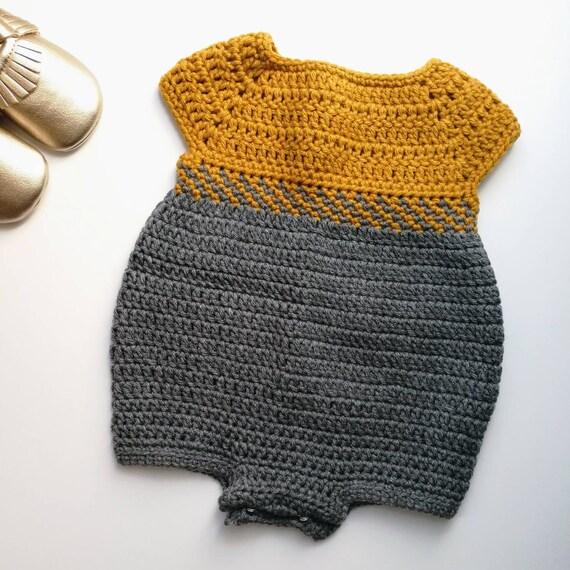Häkeln Sie Baby Strampler Outfit. Sommer. Baby-Kleidung. 0-3 | Etsy