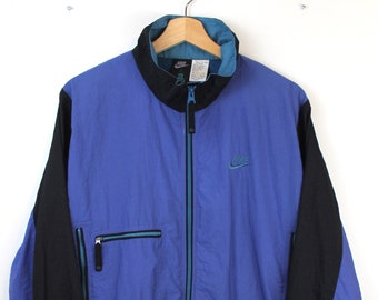05c9209e2dbe 90s Vintage NIKE ACG Windbreaker Jacket All Conditions Gear Zip Up Jacket  Nylon Jacket Embroidered Nike Spell Out Nike Swoosh Size Large