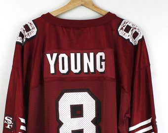 newest 0bb07 5c04a Steve young 49ers | Etsy