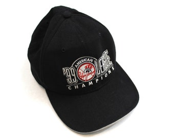 69377a1474d 90s Vintage NY Yankees Snapback Hat New York Yankees 1999 American League  Champions Embroidered New Era Hat Made in USA MLB Black