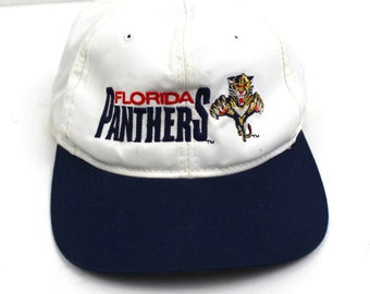 90s Vintage FLORIDA PANTHERS Hat The Game Snapback Hat Embroidered Panthers  Logo White Snapback Adjustable One Size 7b2427738