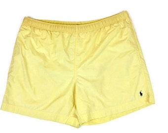 90s Vintage POLO SPORT Swim Trunks Ralph Lauren Swim Shorts Embroidered Ralph  Lauren Polo Logo Yellow Swim Trunks Shorts Lined Size XXL