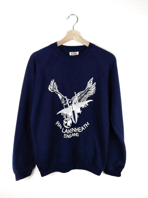 80's Vintage RAF LAKENHEATH Sweatshirt Royal Air F