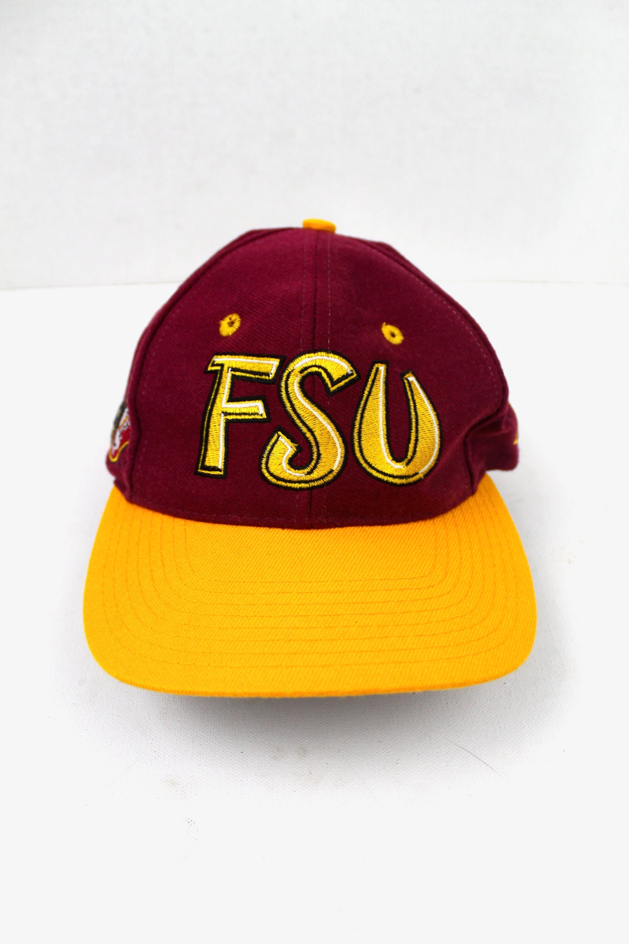 huge selection of 69d3c edce3 90s Vintage FSU Snapback Hat Florida State University   Etsy