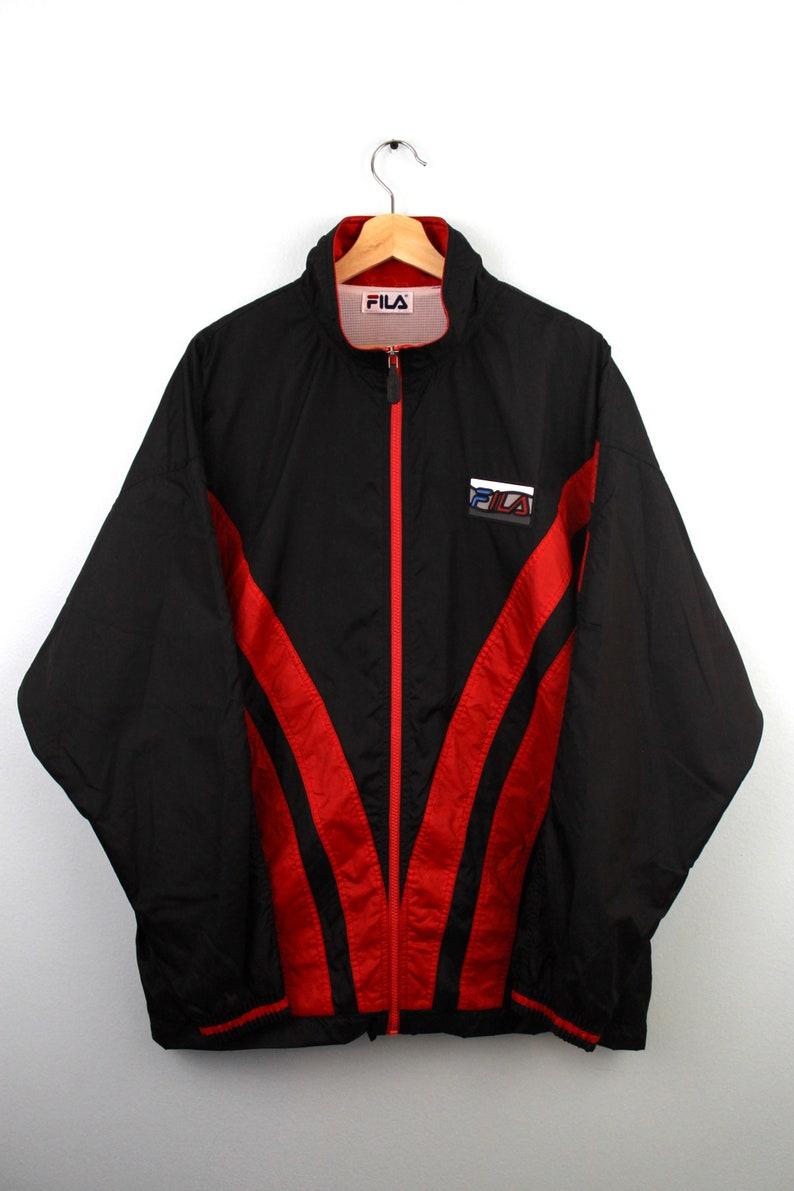 14480f1418956 90s Vintage FILA Windbreaker Jacket Zip Up Jacket Nylon Jacket | Etsy