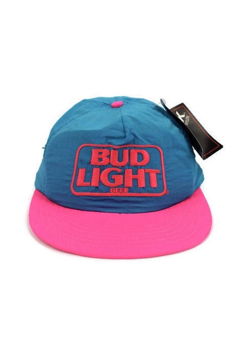 NATURAL LIGHT BUDWEISER BUD LIGHT ANHEUSER BUSCH BEER SNAPBACK TRUCKER HAT CAP