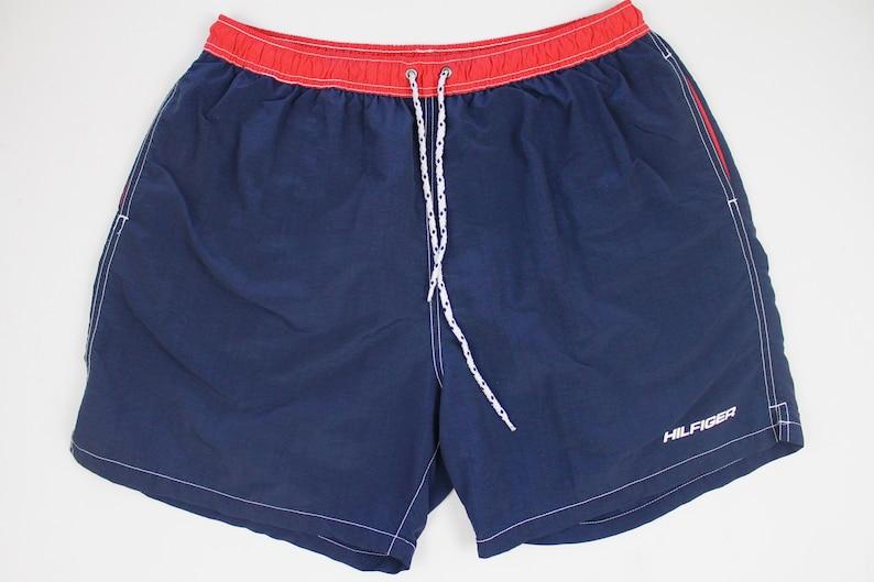 ad0872cff4 90s Vintage TOMMY HILFIGER Swim Trunks 90s Tommy Swim Shorts | Etsy
