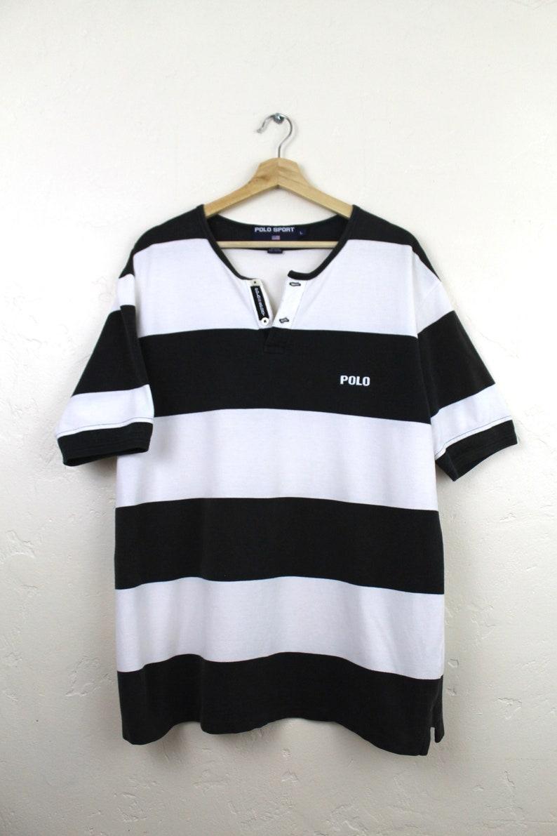6e02a02e0 90s Vintage POLO SPORT Striped T-Shirt Vintage Ralph Lauren