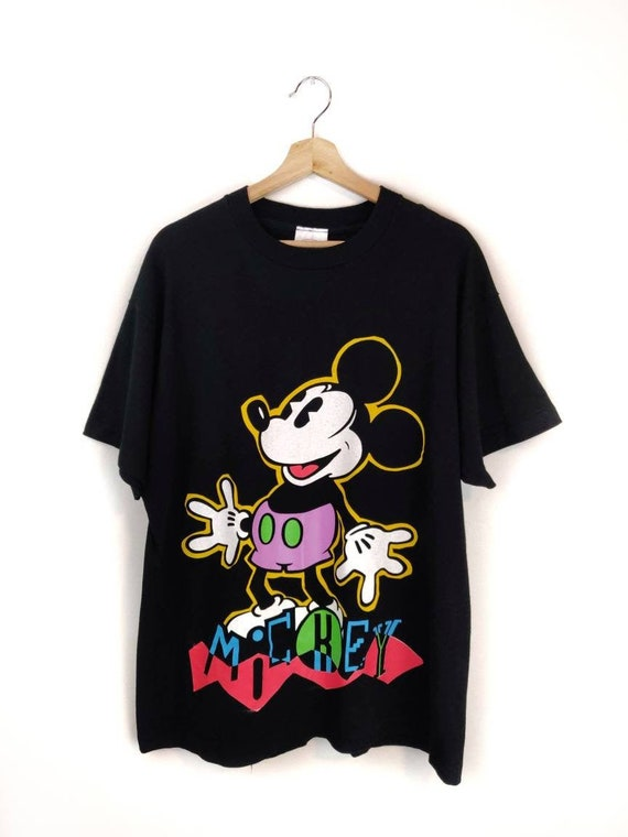 90s Vintage MICKEY T-Shirt Mickey Mouse Graphic T-