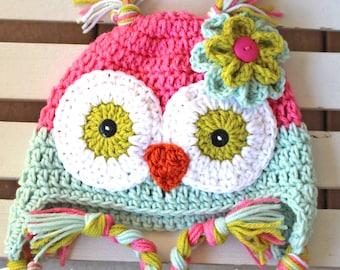 Owl Hat, Crochet Owl Hat, Kids Hat, Baby Owl Hat, Girl Owl Hat, Children Hats, Toddler Hats, Girl Hats, Crochet Hats, Animal Hats