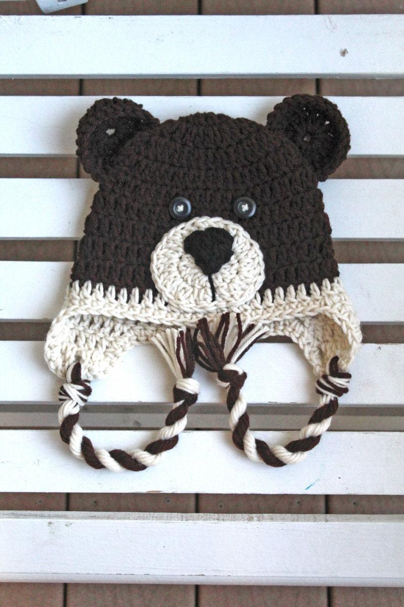 Bear Hat Animal Hat Kids Hats Crochet Hat Adult Hats Baby  b8e669e73b09